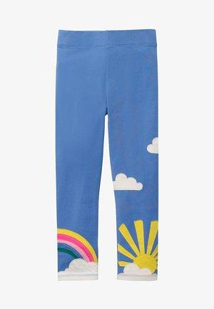 MIT APPLIKATION - Leggings - Trousers - sky blue