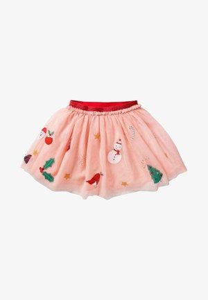 A-line skirt - mottled light pink