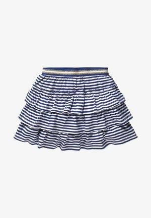 A-line skirt - Indigo blue/white
