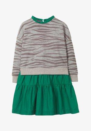 Jersey dress - grey/green