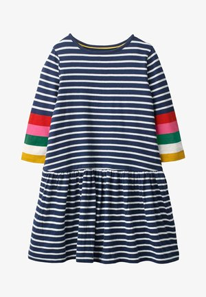 Jersey dress - natural white/navy
