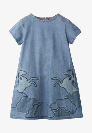 MIT EINHORN-APPLIKATION - Denim dress - medium vintage blue
