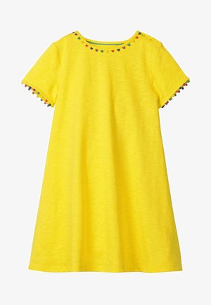 MIT REGENBOGENBORTEN - Jersey dress - lemon zest yellow