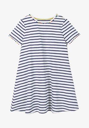 MIT REGENBOGENBORTEN - Jersey dress - violet blue/natural white