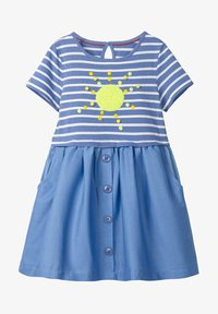 Boden - MIT FARBWECHSELNDEN PAILLETTEN - Day dress - sea blue/sun - 0