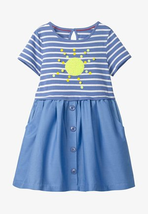 MIT FARBWECHSELNDEN PAILLETTEN - Day dress - sea blue/sun