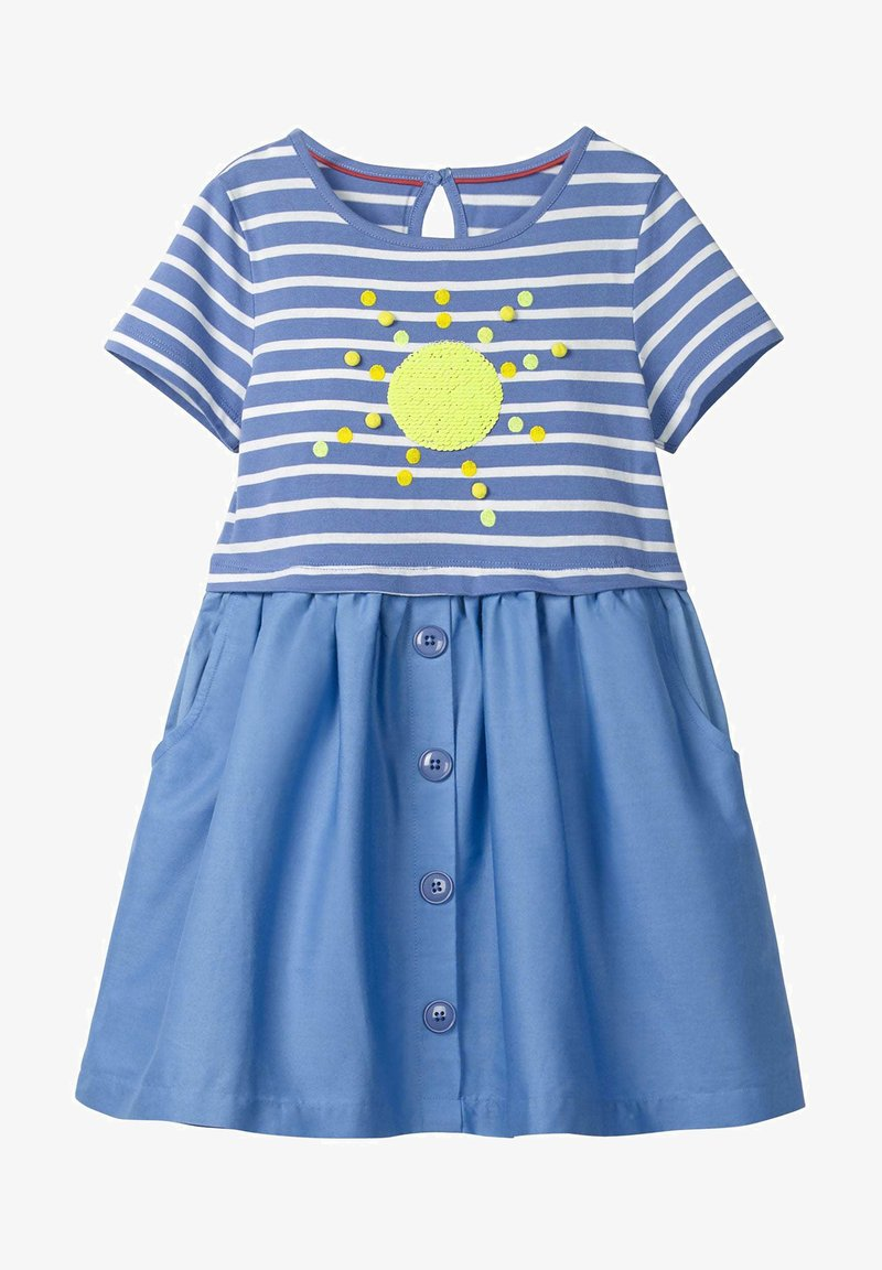 Boden - MIT FARBWECHSELNDEN PAILLETTEN - Day dress - sea blue/sun