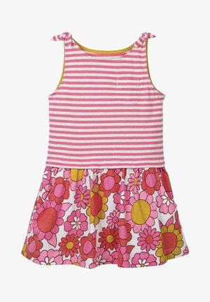 MIT MUSTERMIX UND SCHLEIFEN - Jersey dress - white/light pink