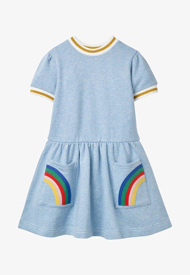 MIT TASCHEN-APPLIKATION - Jersey dress - eisblau