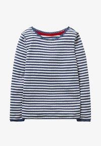 Boden - SUPERWEICHES POINTELLE - Long sleeved top - mottled blue/ecru - 0