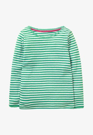 SUPERWEICHES POINTELLE - Long sleeved top - Asparagus Green/Nature White