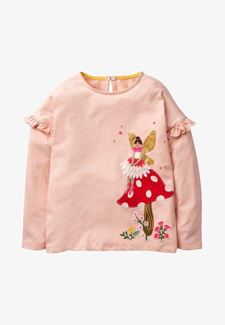 Boden - MIT FEEN APPLIKATION - Long sleeved top - mottled light pink
