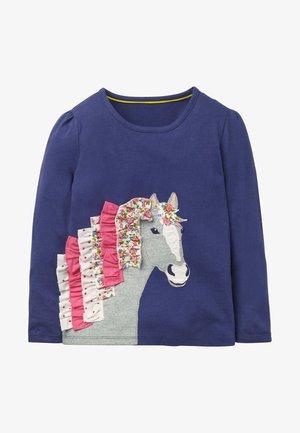 Long sleeved top - segelblau, pferd