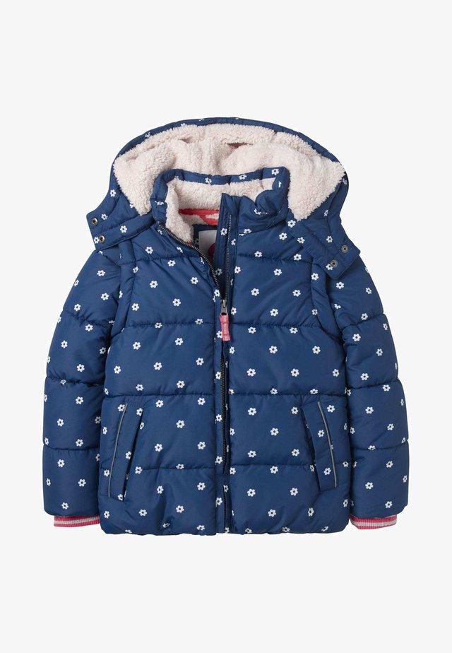 KUSCHELIGE 2-IN-1-JACKE MIT WATTIERUNG - Winter jacket - schuluniform-navy, geometrisches blumenmuster