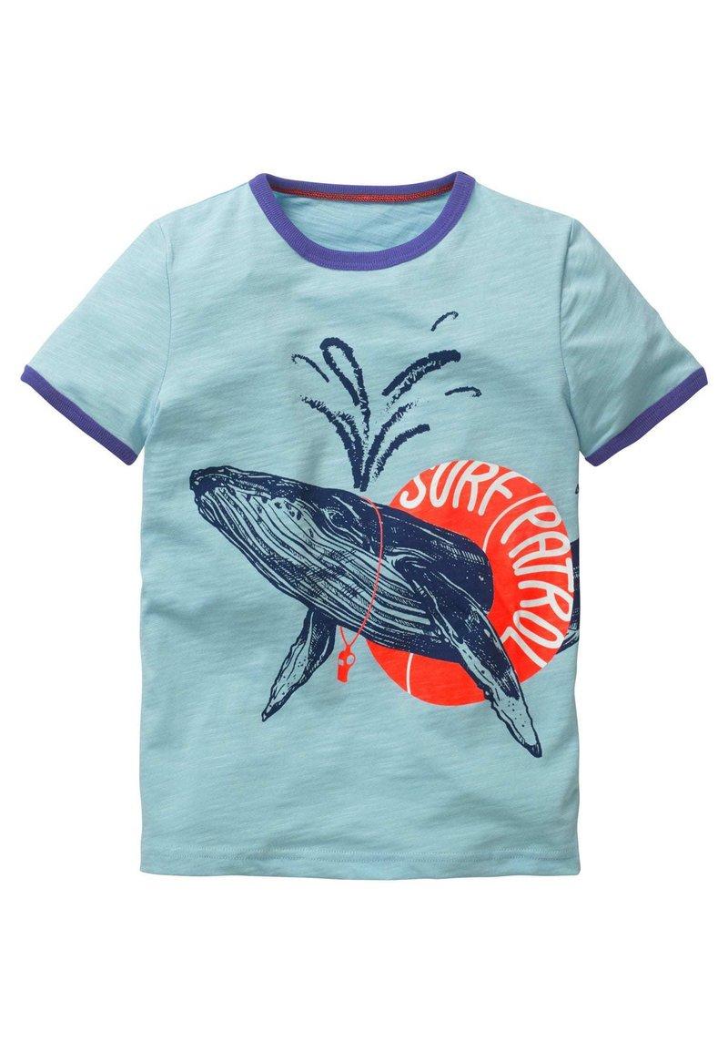 Boden - Print T-shirt - helles himmelblau, surf patrol