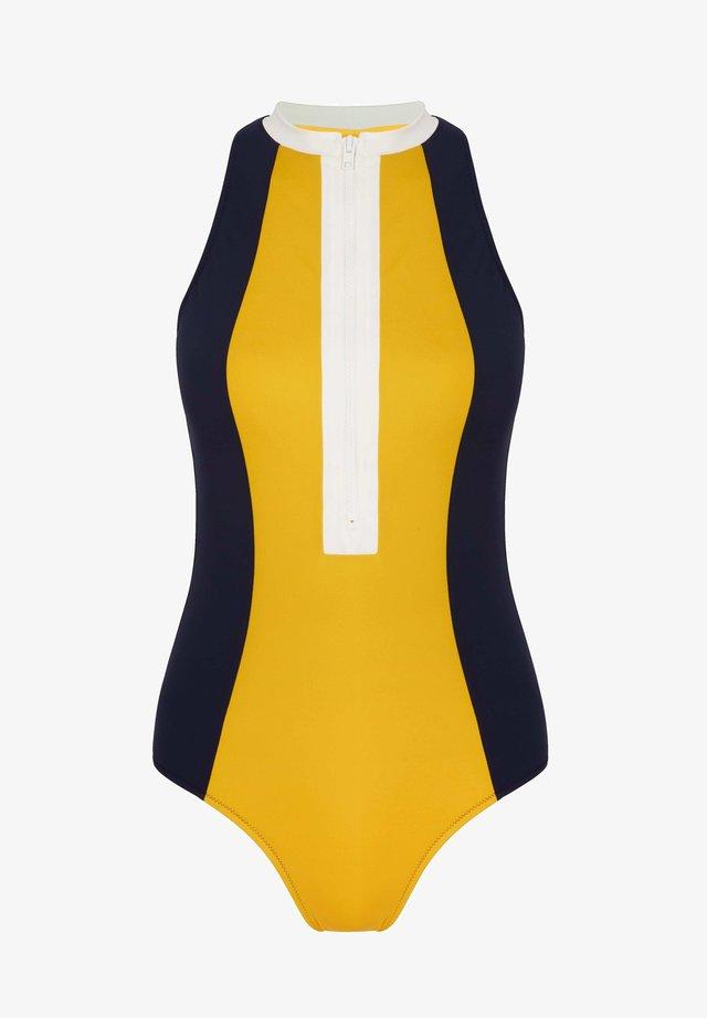 Swimsuit - gelb, blockfarben