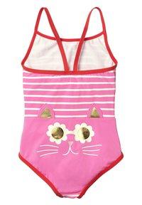 Boden - MIT ORIGINELLER HINTERSEITE - Swimsuit - sweet pink/natural white - 1