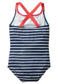Boden - MIT ÜBERKREUZTEN TRÄGERN - Swimsuit - natural white/navy - 1
