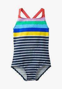 Boden - MIT ÜBERKREUZTEN TRÄGERN - Swimsuit - natural white/navy - 0