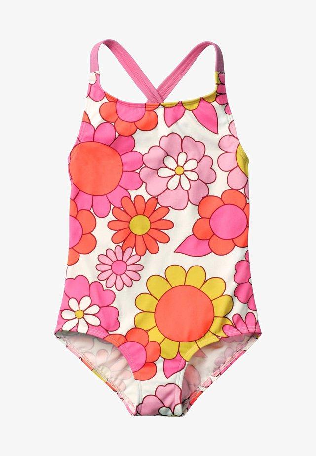 MIT ÜBERKREUZTEN TRÄGERN - Swimsuit - bright pink