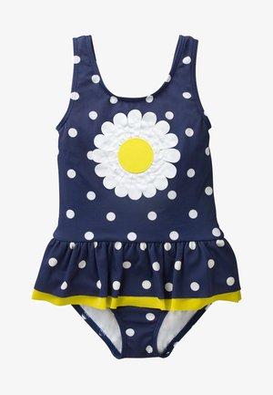 Swimsuit - deep sea blue/white
