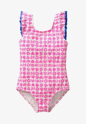 MIT RÜSCHEN AN DEN SCHULTERN - Swimsuit - neon pink