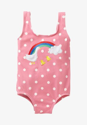 MIT RÜSCHEN UND APPLIKATION - Swimsuit - dolphin pink