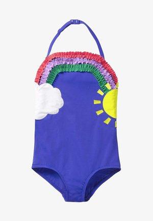 MIT APPLIKATION - Swimsuit - mottled blue