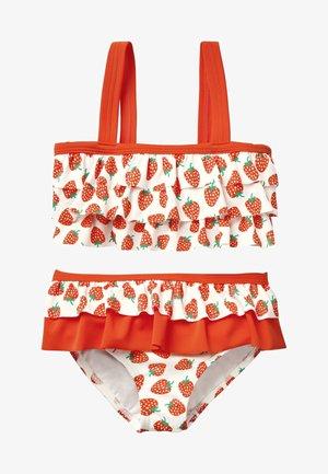 MIT RÜSCHEN - Bikini - natural white/bright red