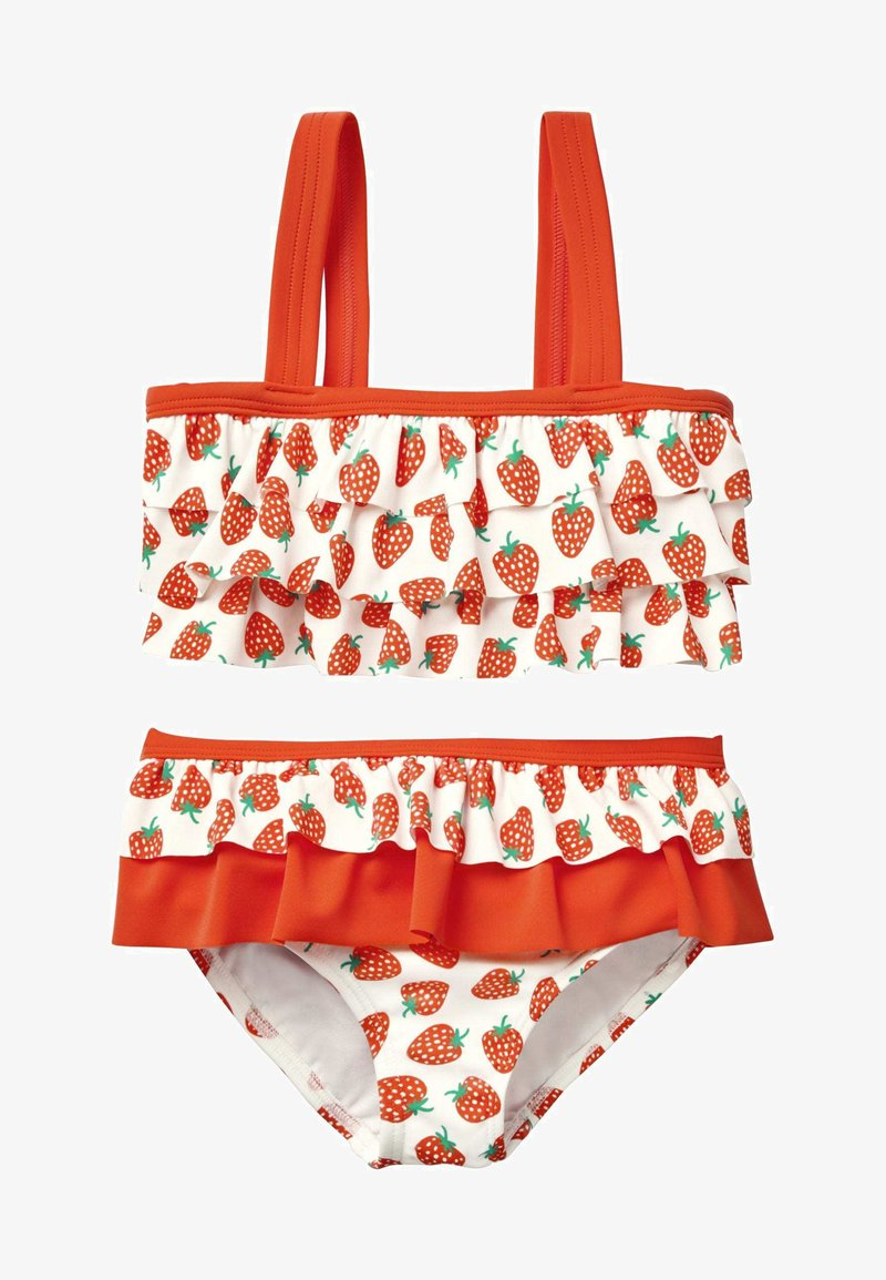 Boden - MIT RÜSCHEN - Bikini - natural white/bright red