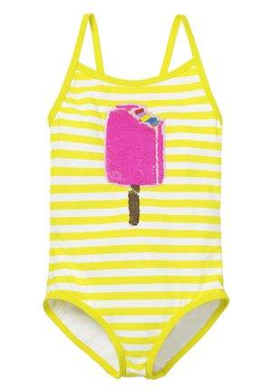 MIT FARBWECHSELNDEN PAILLETTEN - Swimsuit - gelb/naturweiß, eis am stiel
