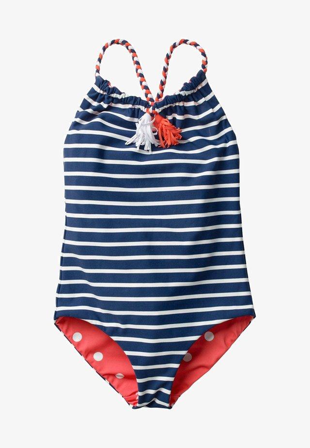 Swimsuit - tiefseeblau, getupft