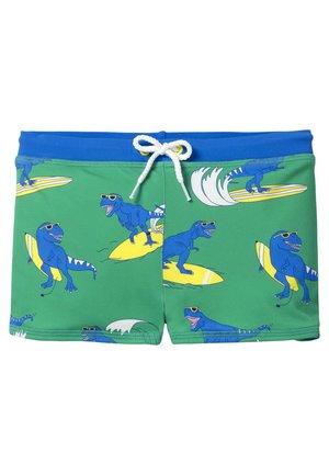 Swimming trunks - poolblau, surfende dinos