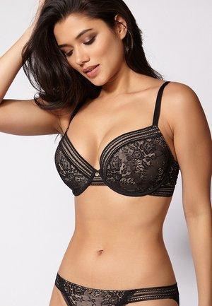 LAILA  - Kaarituelliset rintaliivit - black/nude