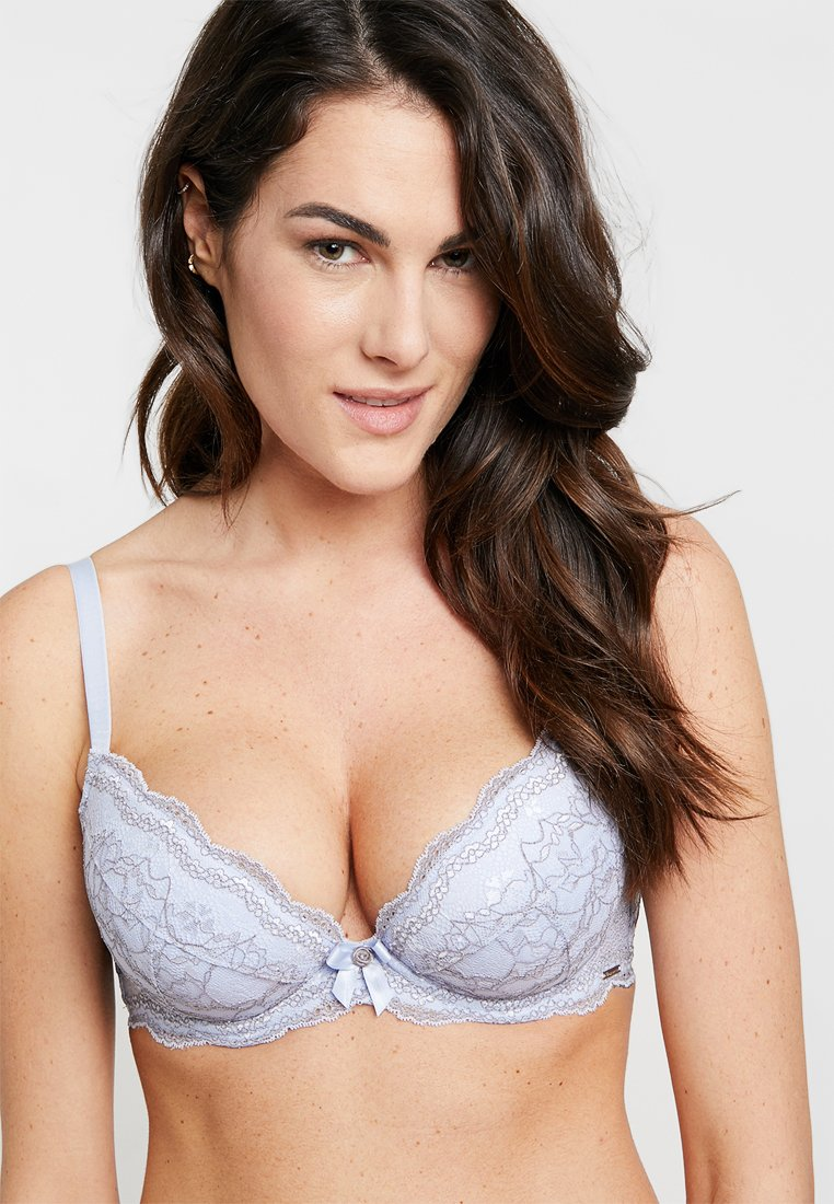 Boux Avenue - PLUNGE BRA - Push-up bra - blue/grey