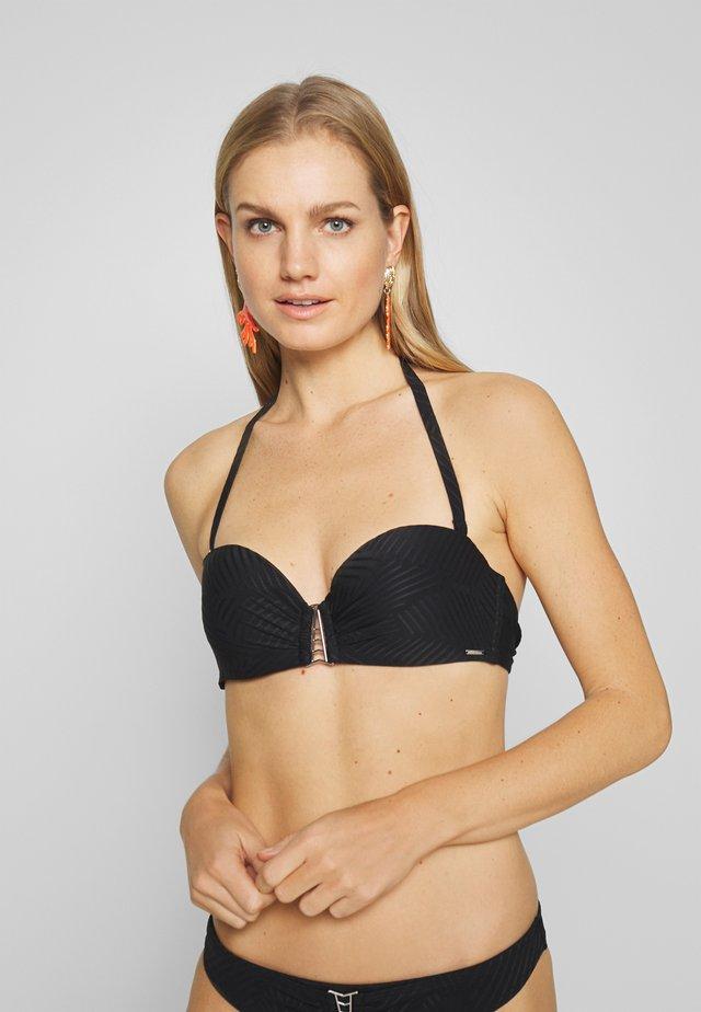 MADIERA DECO BALCONETTE - Bikini top - black