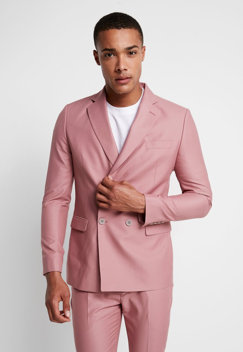 boohoo MAN - DOUBLE BREASTED SUIT JACKET - Giacca - pink