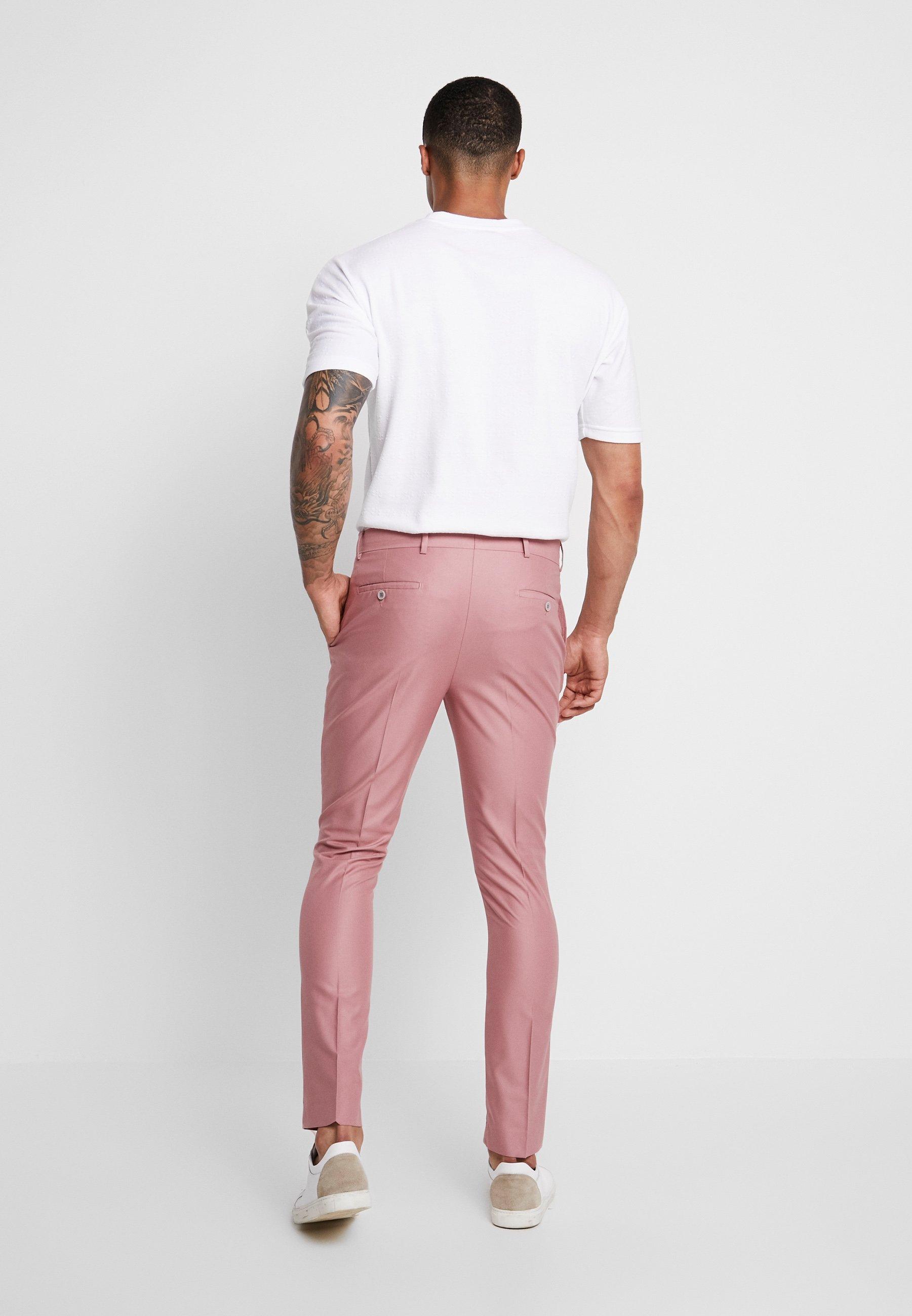 De Suit Boohoo Costume Man TrouserPantalon Pink I29WHYbEeD