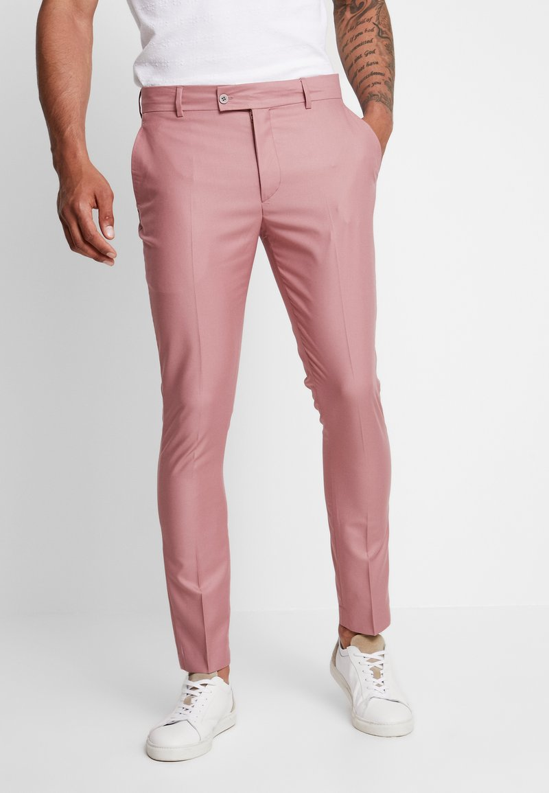 boohoo MAN - SUIT TROUSER - Suit trousers - pink