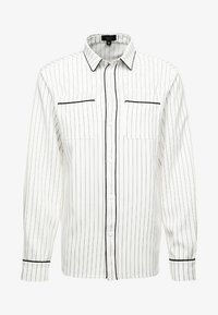 boohoo MAN - LONG SLEEVE STRIPE WITH PIPING - Camicia - white - 4