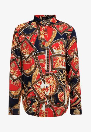 BAROQUE CHAIN PRINT LONG SLEEVE SHIRT - Camisa - red