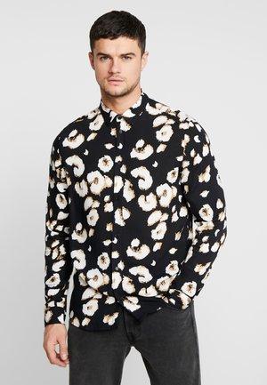 LEOPARD PRINT LONG SLEEVE - Shirt - black