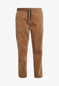 boohoo MAN - JOGGER STYLE TROUSER WITH SIDE PIPING - Pantalones - tan - 4