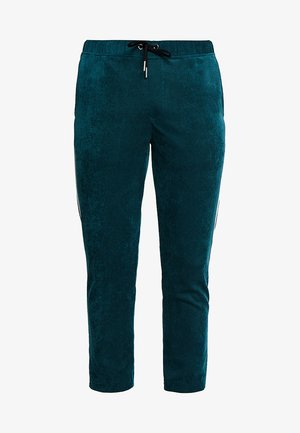 TROUSER WITH SIDE PIPING - Träningsbyxor - green