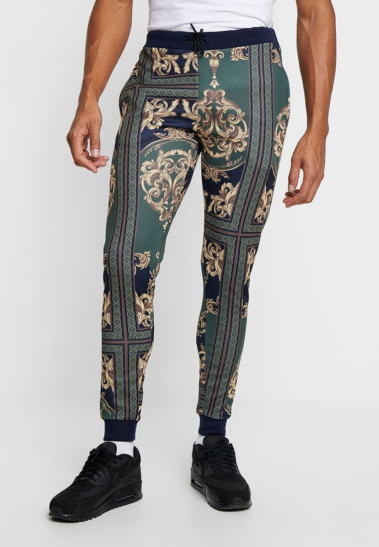boohoo MAN - BAROQUE JOGGERS - Träningsbyxor - multi-coloured