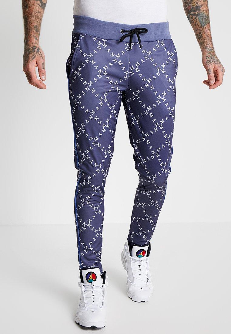 boohoo MAN - PIPING DETAIL - Pantalones deportivos - navy
