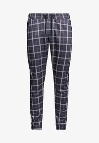 boohoo MAN - CHECK IN TRICOT WITH SIDE TAPING - Pantalon classique - grey - 3