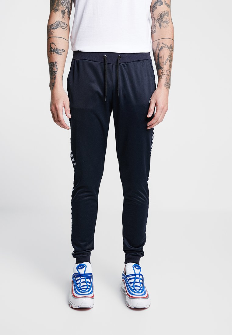 boohoo MAN - TRACKSUIT WITH MONO TAPING - Jogginghose - navy