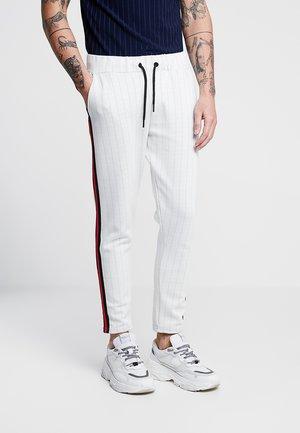 PINSTRIPE SMART TAPED CROPPED JOGGER - Spodnie treningowe - white