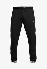 boohoo MAN - MAN AIRTEX  WITH RUBBER TAB - Pantalones deportivos - black - 4